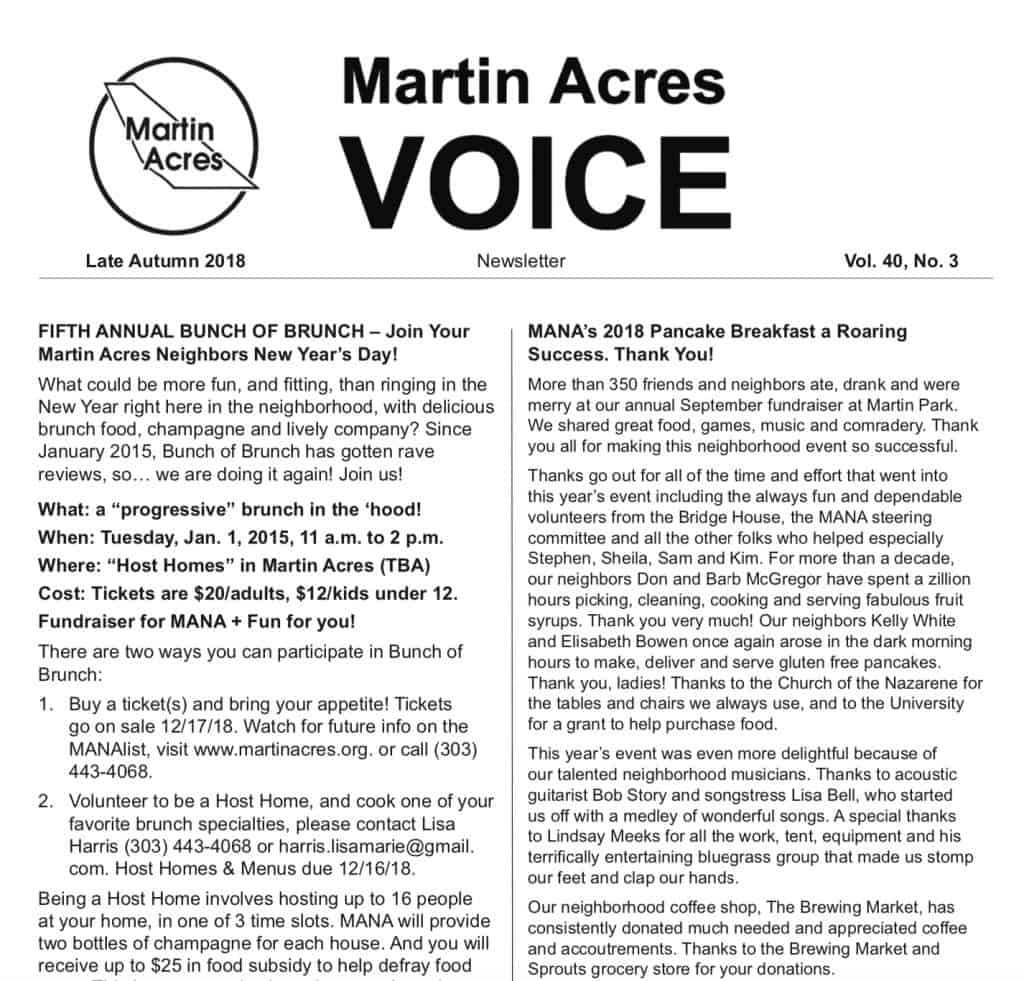 Image of a Voice Newsletter